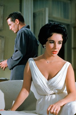 "Paul Newman & Liz Taylor in ""Cat On A Hot Tin Roof'"