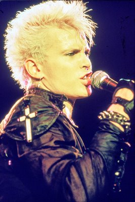 Billy Idol Singing On Stage 1985