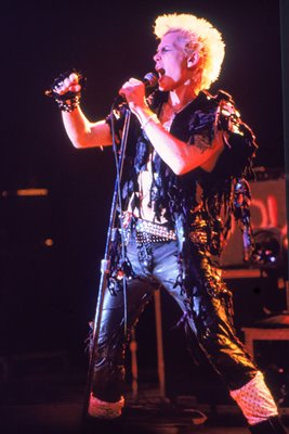 Billy Idol Performing In Concert 1985