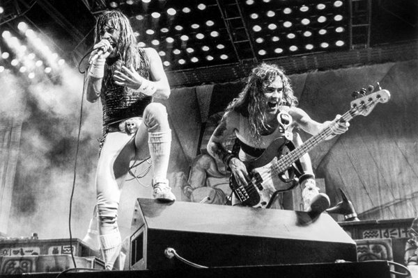Iron Maiden on stage
