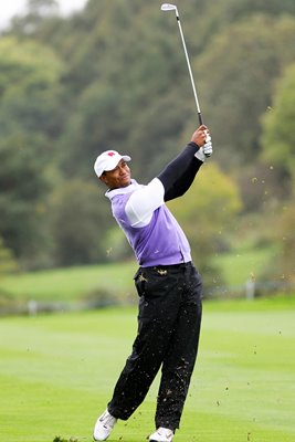 Tiger Woods in action - Foursomes Day 2