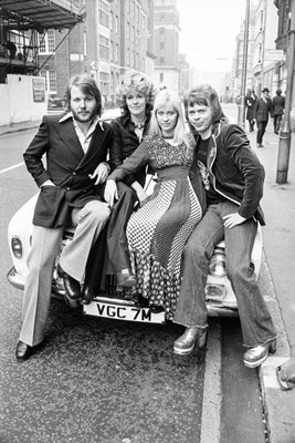 Abba Posing on car 1974