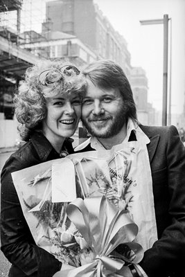 Anni Frid and Benny of Abba 1974