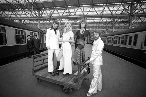 Abba at Waterloo Station 1974