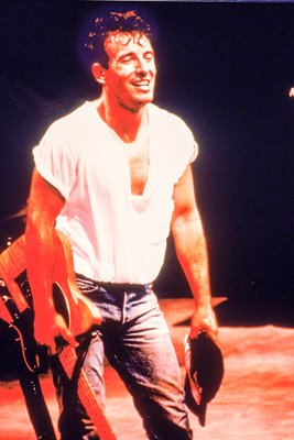 Bruce Springsteen soaks it up on stage