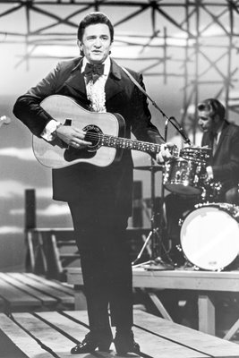 Johnny Cash performs on TV