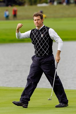 Lee Westwood celebrates record win over Woods