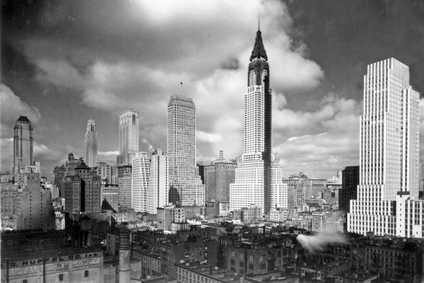 The Chrysler Building under construction