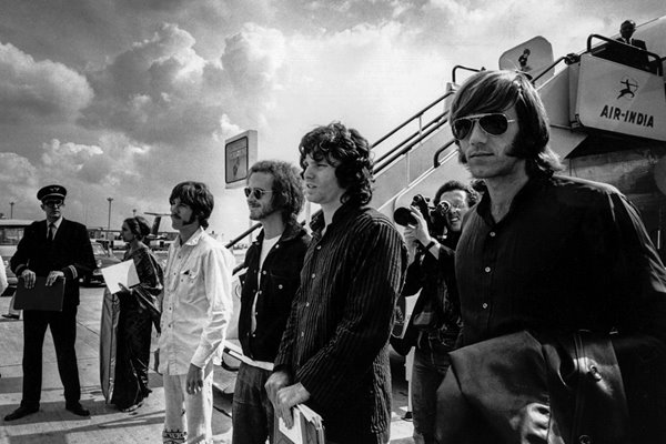 The Doors at London Airport in 1968