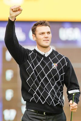 Martin Kaymer celebrates on Day 3