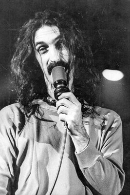 Frank Zappa on stage at the Hammersmith Odeon