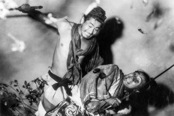 A fight scene from Rashomon