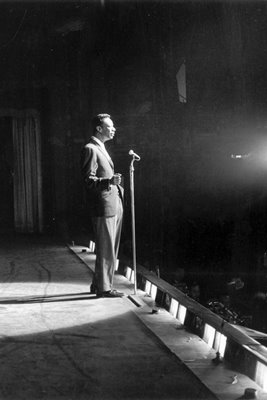 Nat King Cole - portrait on stage