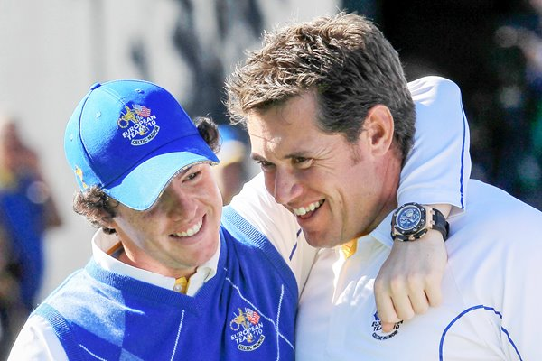 Westwood & McIlroy celebrate victory
