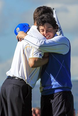 Rory McIlroy Relief after Cink Half