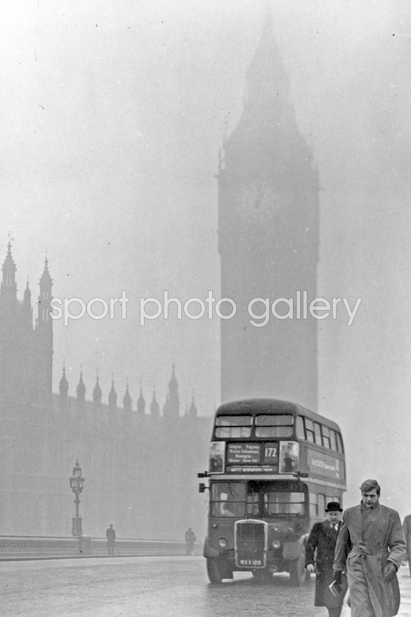 London Scene - Big Ben in a fog 1970