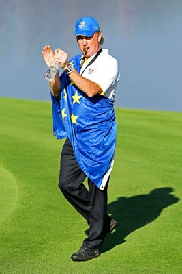 Miguel Angel Jimenez European celebration