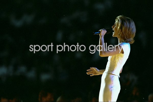 Celine Dion at the Olympic Stadium in Atlanta