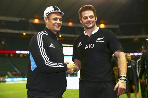 Dan Carter 100th cap with Richie McCaw Twickenham 2013