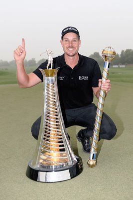 2013 Henrik Stenson Race to Dubai & DP Worlds winner