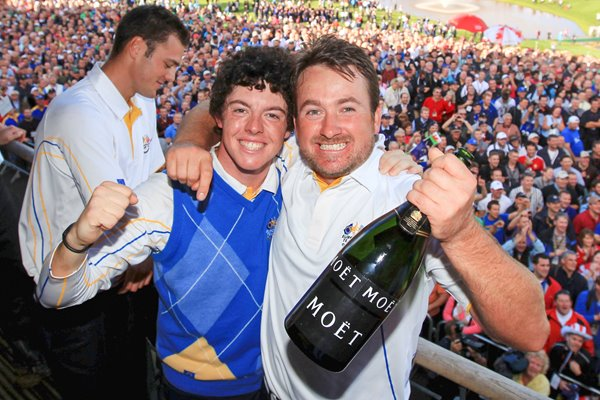 GMac and Rory celebrate European Victory