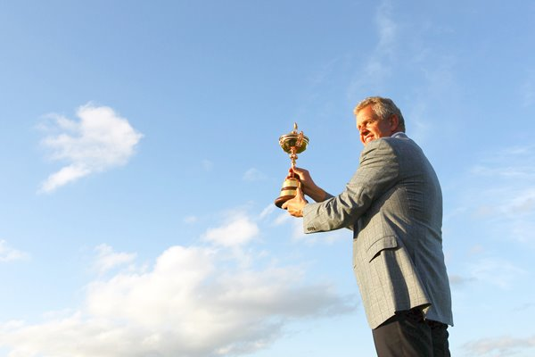 Colin Montgomerie with Ryder Cup trophy