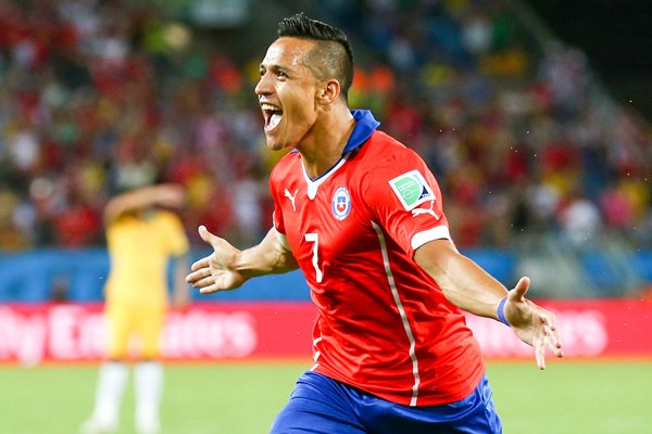 Alexis Sanchez Chile 2014 World Cup