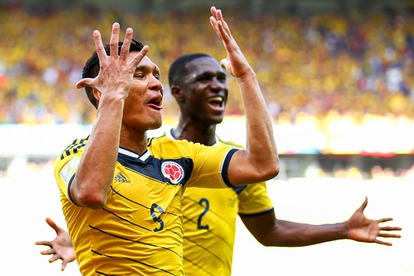 Teofilo Gutierrez Colombia celebrates 2014 World Cup