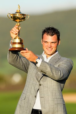 Martin Kaymer with 2010 Ryder Cup trophy