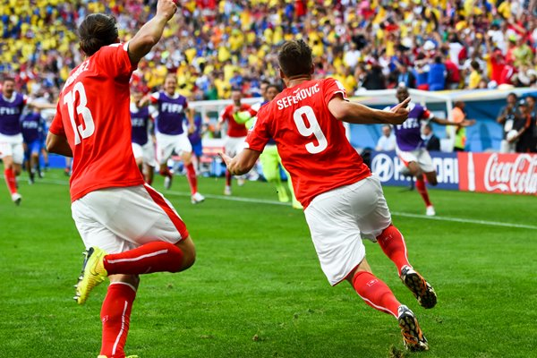 Seferovic and Rodriguez Switzerland 2014 World Cup