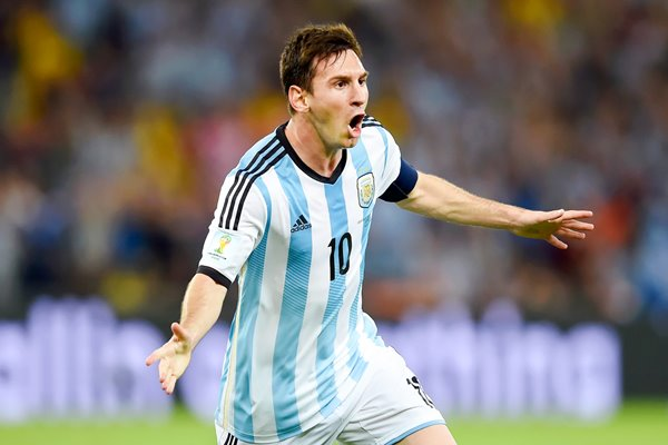 Lionel Messi Argentina scores 2014 World Cup