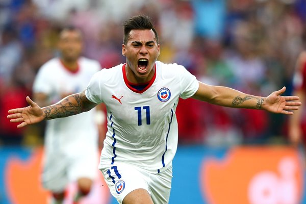 Eduardo Vargas Spain v Chile World Cup 2014