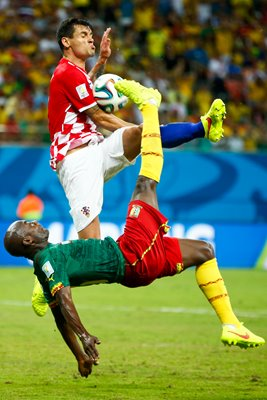 Pierre Webo and Dejan Lovren Cameroon v Croatia World Cup Brazil 2014