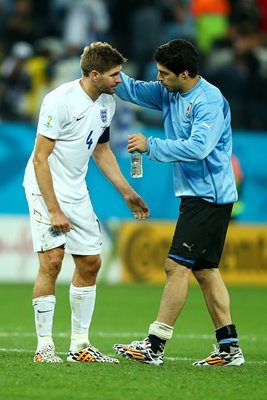Luis Suarez and Steven Gerrard World Cup 2014