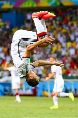 Miroslav Klose of Germany celebrates 2014 World Cup