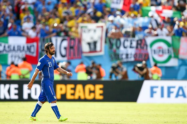 Andrea Pirlo walks away 2014 World Cup