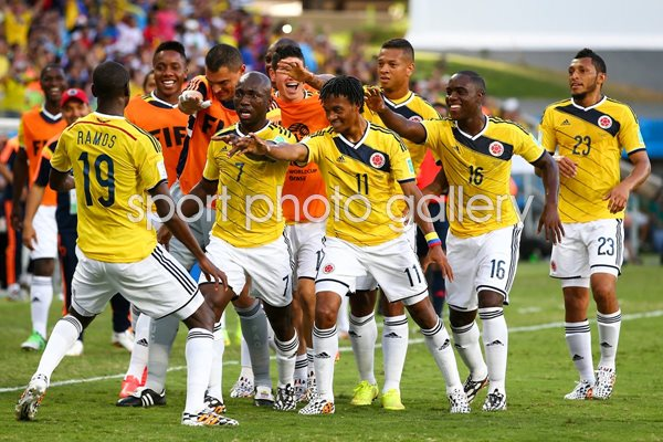 Modal title. Save changes. Close. Colombia players celebrate 2014 World Cup 2630de162