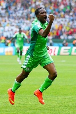 Ahmed Musa Nigeria v Argentina 2014 World Cup
