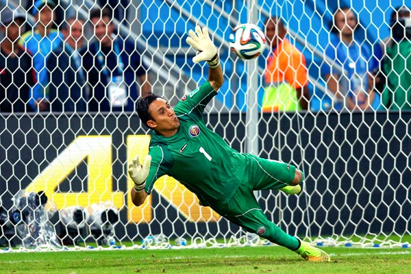 Keylor Navas Costa Rica save v Greece 2014 World Cup
