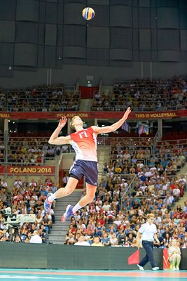 Maxwell Holt USA serves v France