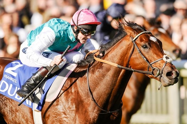 Frankel wins at Newmarket Races 2010