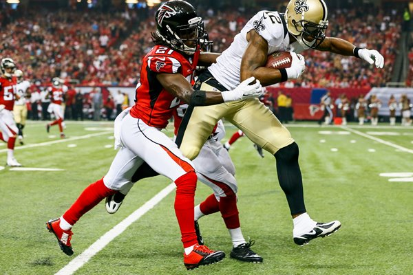 Marques Colston Saints Desmond Trufant Falcons 2014