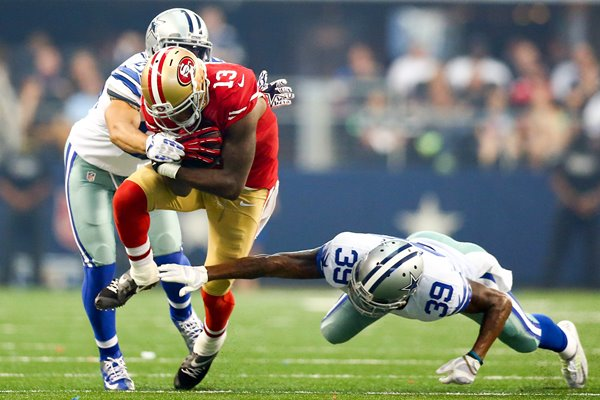 Steve Johnson 49ers Brandon Carr Cowboys 2014