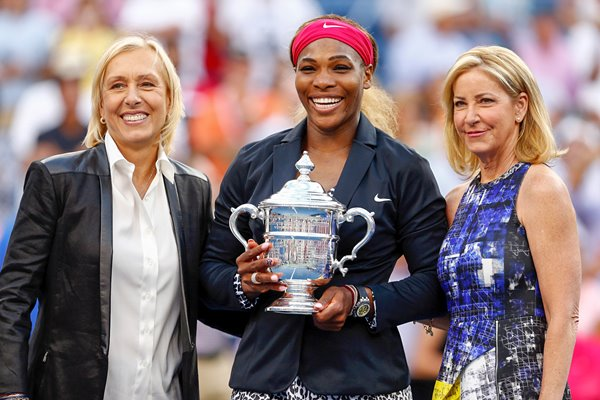 18 Time Grand Slam Winners - Martina Navratilova, Serena Williams & Chris Evert
