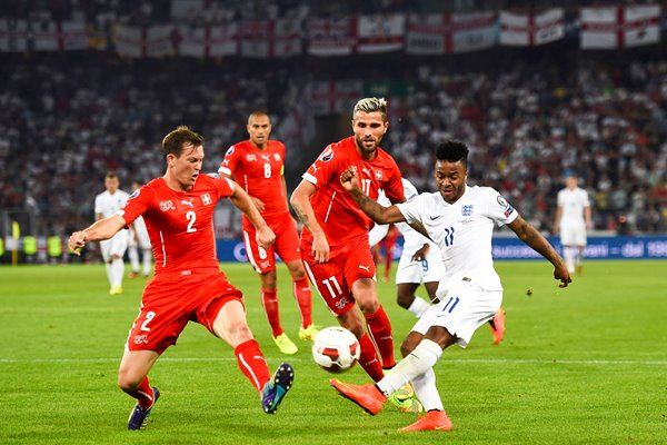 Raheem Sterling England v Switzerland