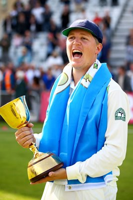 Gary Ballance Celebrates with Trophy