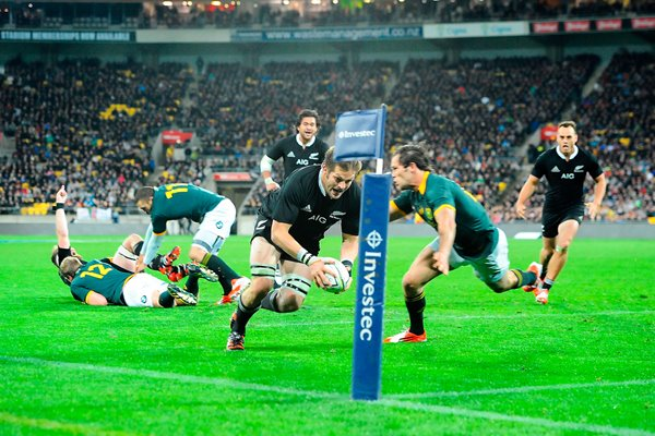 Richie McCaw scores 25th try New Zealand v South Africa 2014