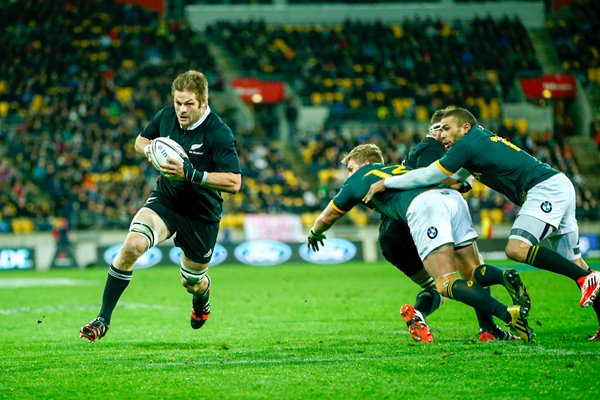 Richie McCaw New Zealand scores v South Africa Wellington 2014
