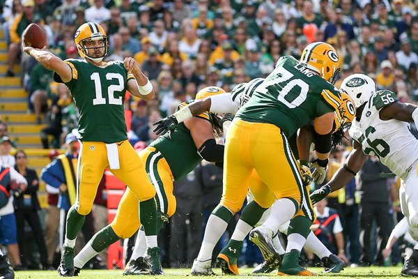 Aaron Rodgers Green Bay Packers v Jets