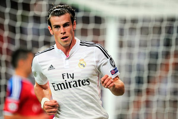 Gareth Bale of Real Madrid celebrate
